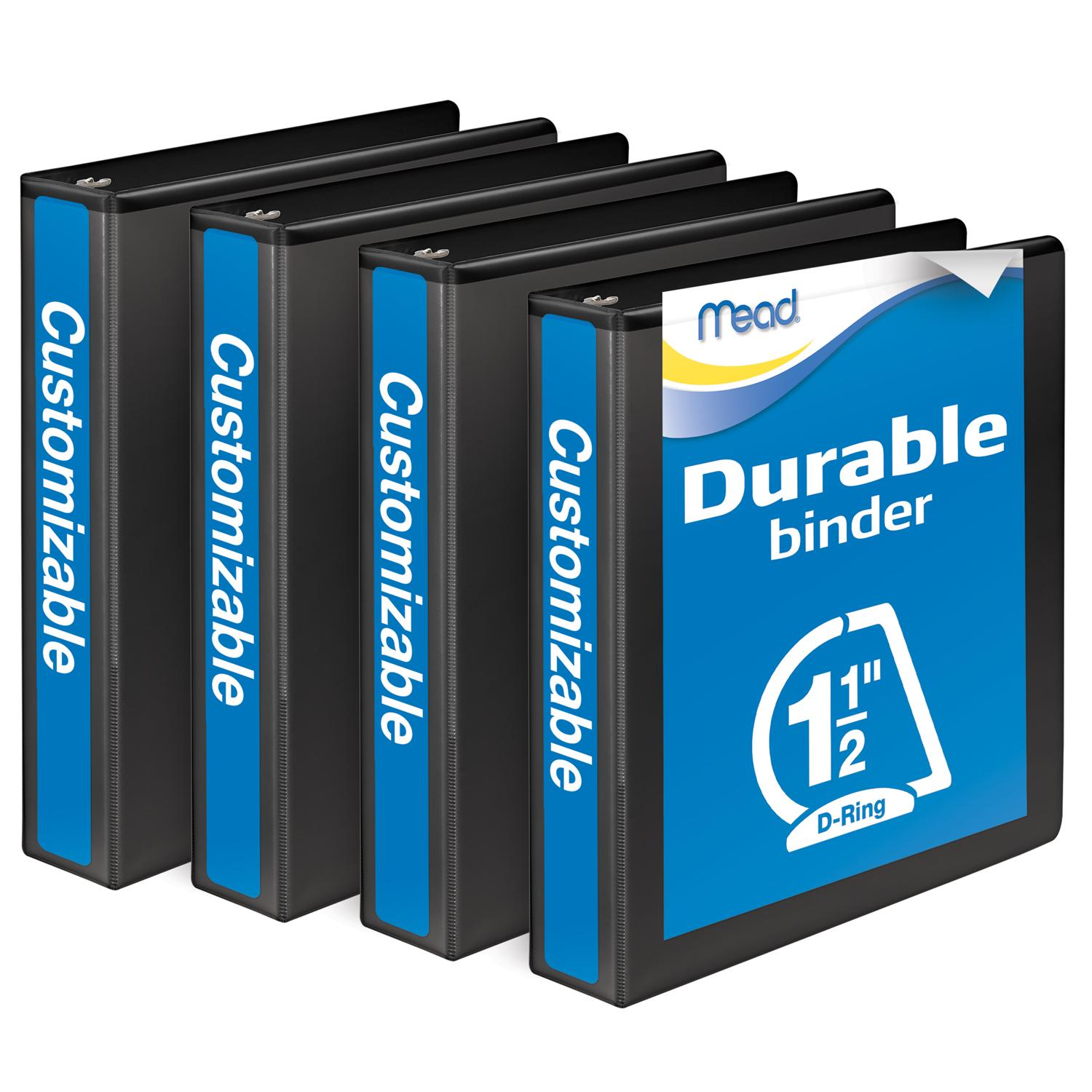 Amazon.com : Mead 1-1/2 Inch Binders, D Ring Binder