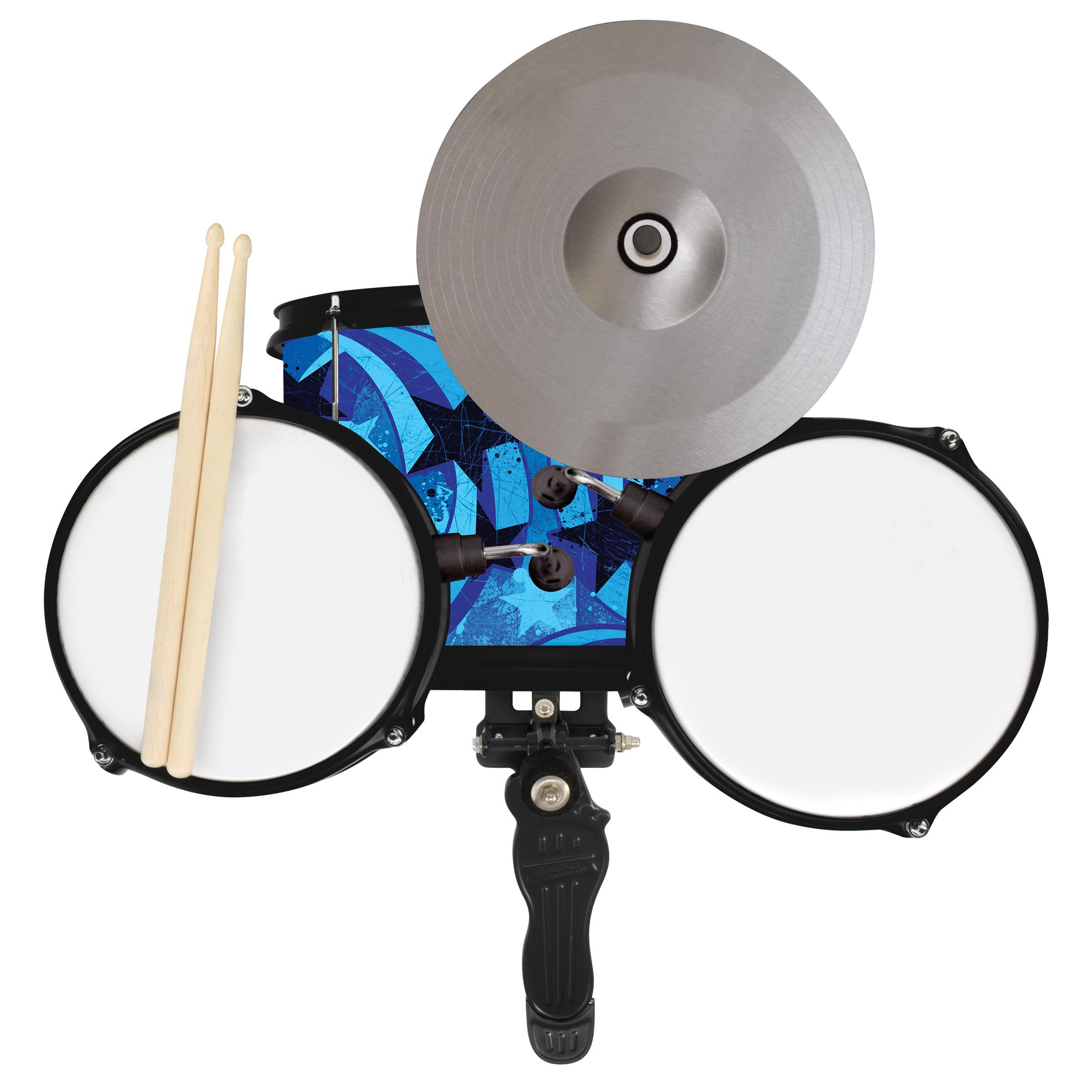 Amazon.com: First Act Discovery Blue Swirls Stars Designer Drum Set ...