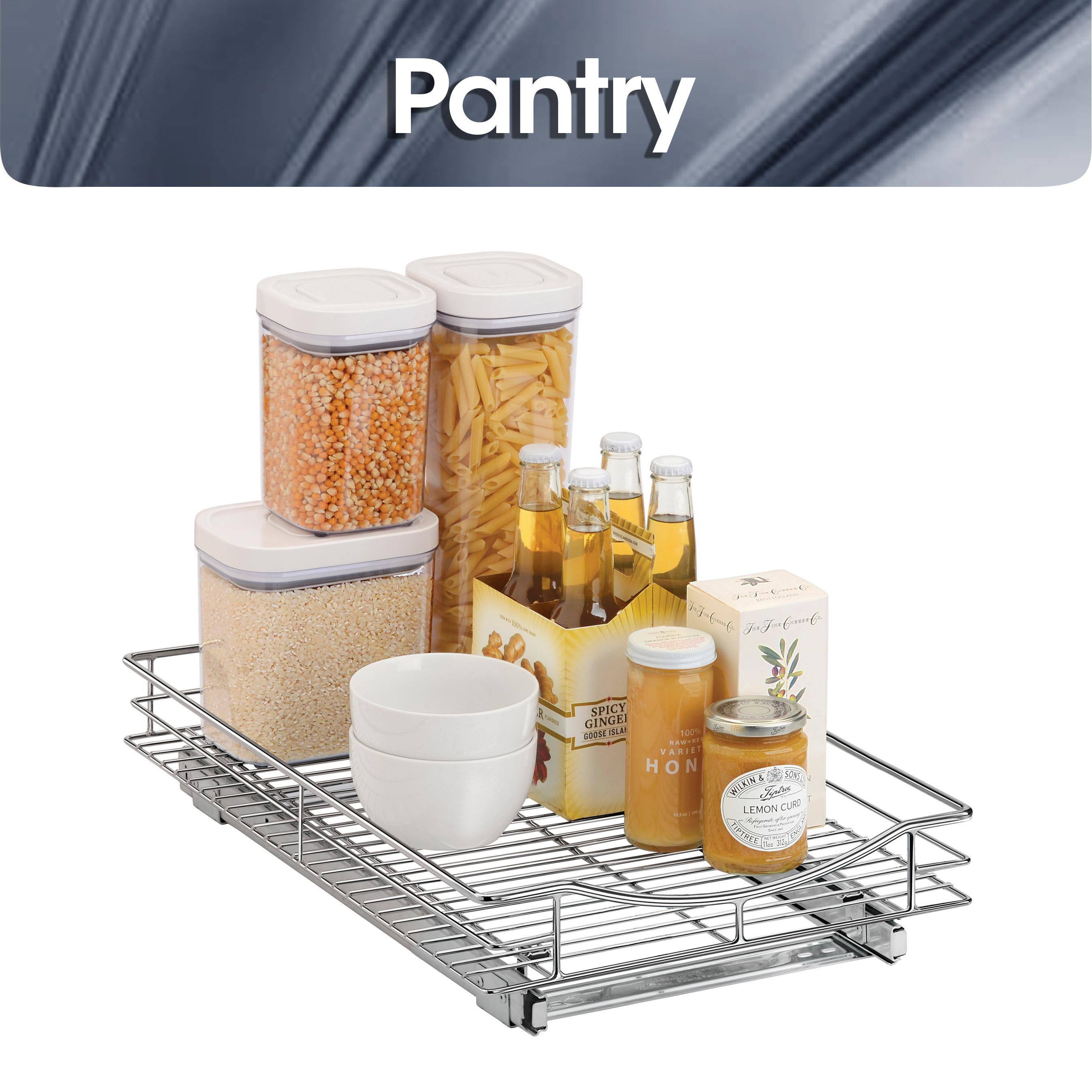 Lynk roll out under sink cabinet organizer pull out two tier sliding - Roll Out Pull Out Pantry Organizer View Larger