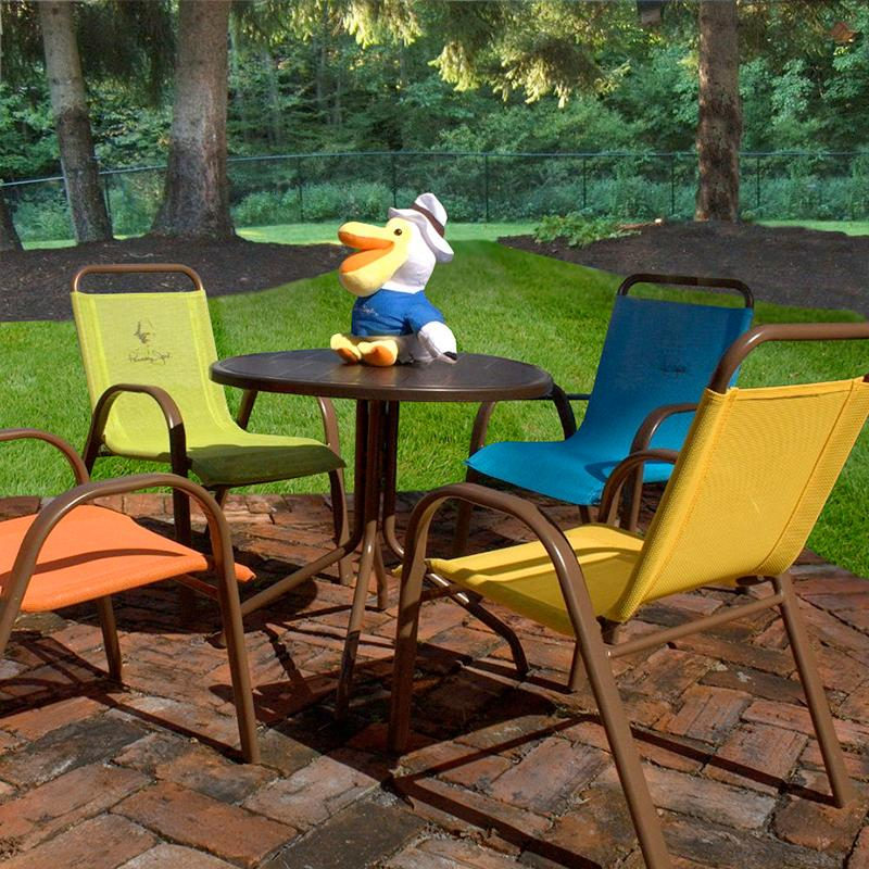 Kids Table And Chairs Patio Outdoor Fun Game Set 5 Piece Dining Seat Furniture Ebay