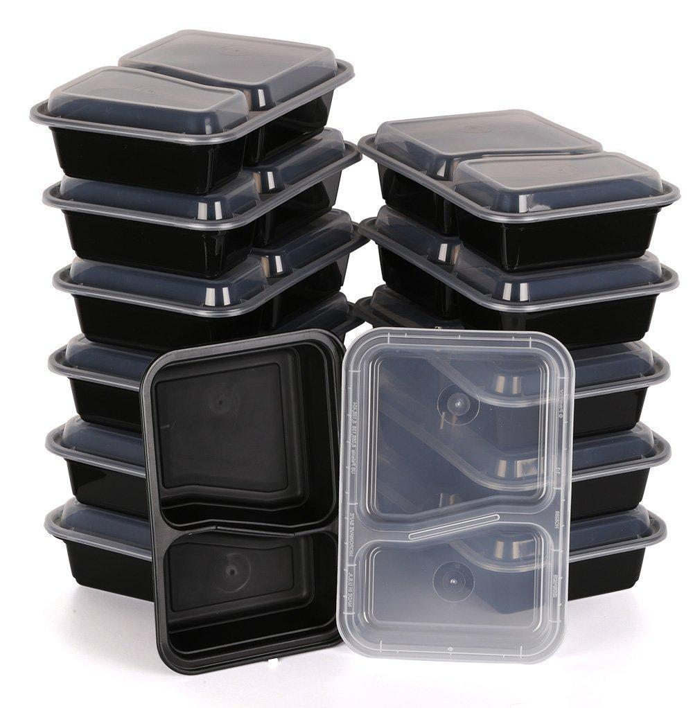 Amazon.com: Kitchen Mission 2 Compartment Rectangular