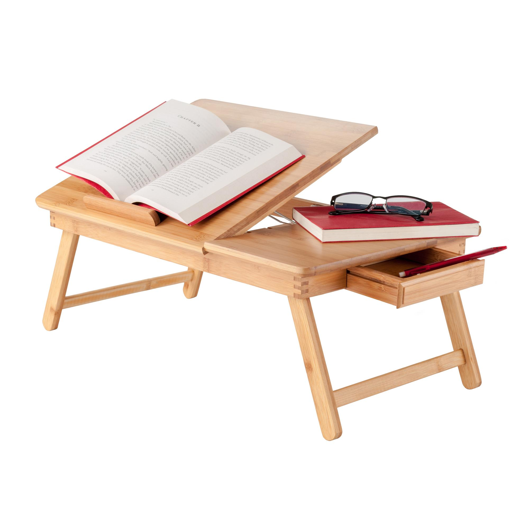 Amazon Com Winsome Wood Baldwin Lap Desk With Flip Top