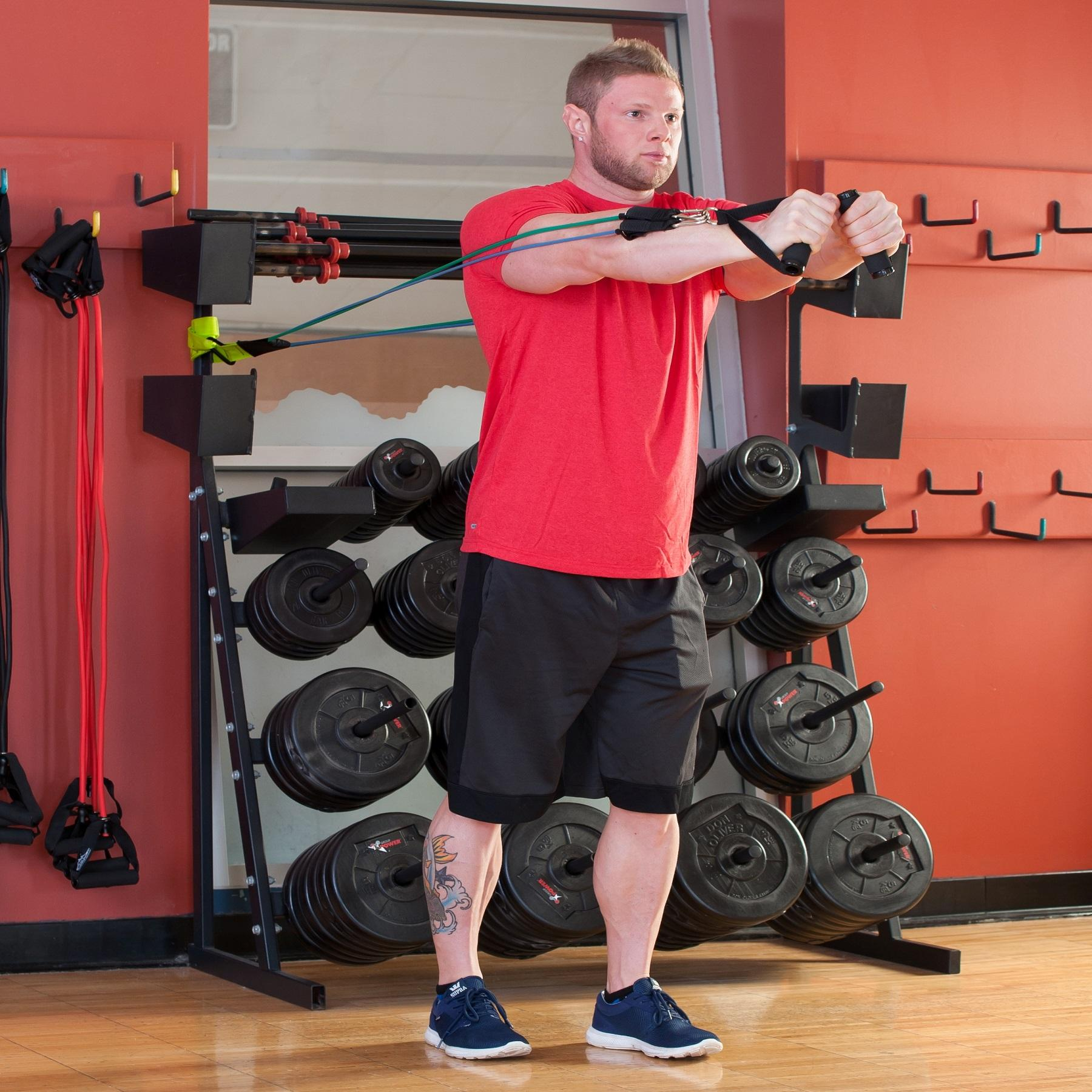 Bench Press Resistance Bands: Amazon.com : Black Mountain Products Resistance Band Set