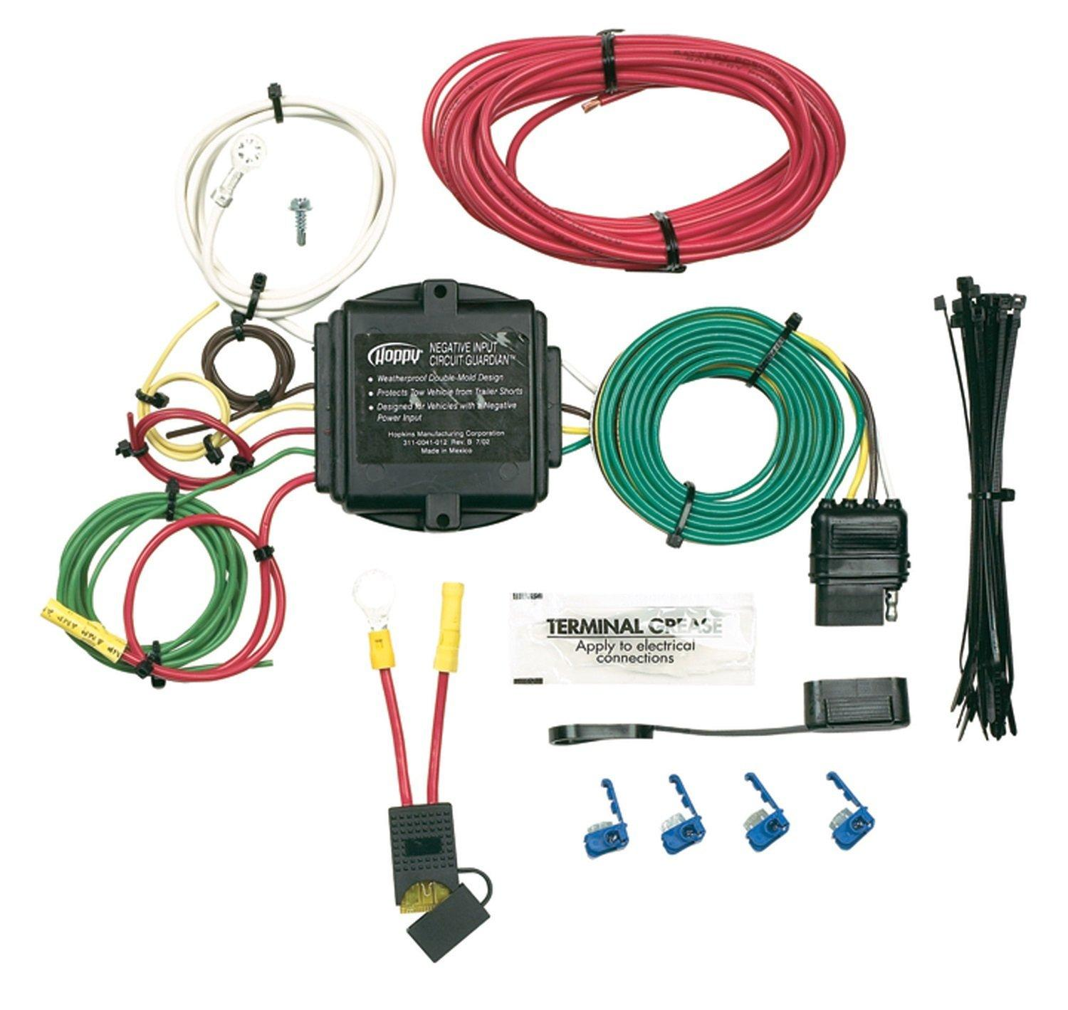 46155 Hopkins Trailer Wiring Converter House Diagram Symbols Brake Controller Amazon Com Taillight Universal Kit Automotive Rh Kits