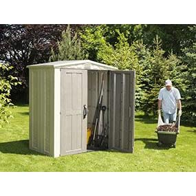 keter factor outdoor patio back yard storage sheds keter factor 6x3 - Garden Sheds 6 X 3