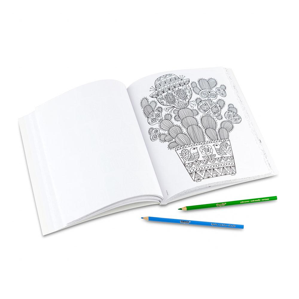 Whimsical designs coloring book - Crayola Whimsical Escapes Coloring Book Package Contents