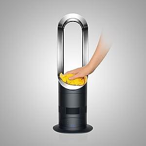 dyson am05 hot cool fan heater white silver. Black Bedroom Furniture Sets. Home Design Ideas