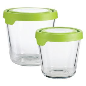 Glass; Storage; Containers; Tall; Set; Bake; Serve; Store;
