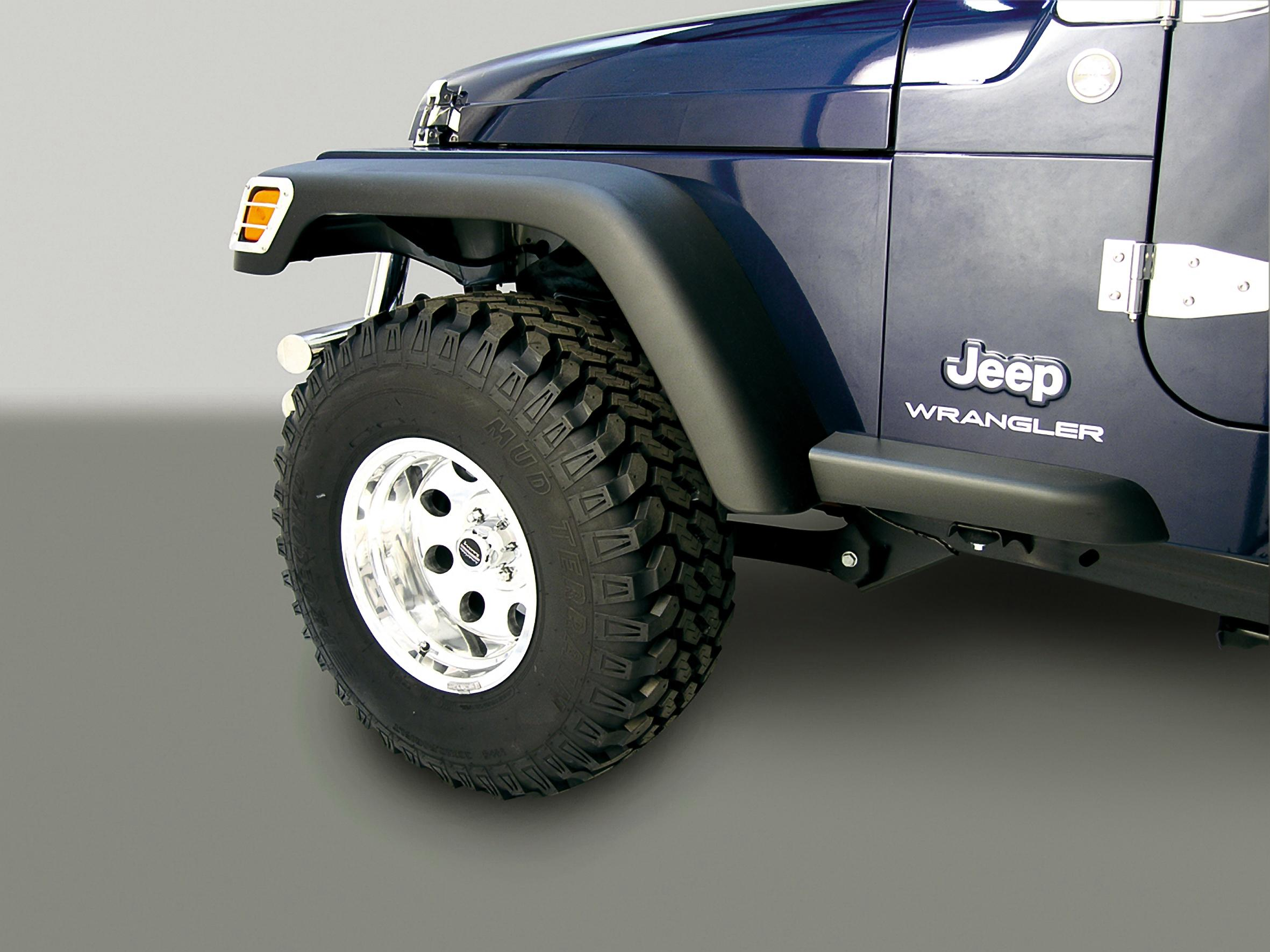 Rugged Ridge 1160811 7 Wide Fender Flare Without Bushwackercom 4945 Bushwackerbuilds Jeepwranglerfrontenddiagram Need A Little Extra Coverage For Those Over Sized Tires The Inch Program Gives You While Still Maintaining