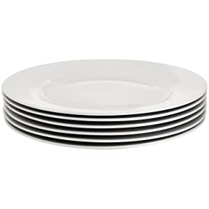 AmazonBasics 6 Piece Dinner Plate Set