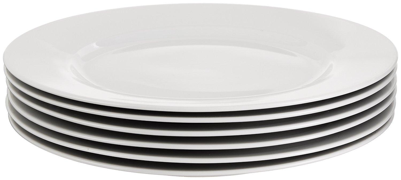 AmazonBasics 6-Piece Dinner Plate Set  sc 1 st  Amazon.com & Amazon.com | AmazonBasics 6-Piece Dinner Plate Set: Dinner Plates