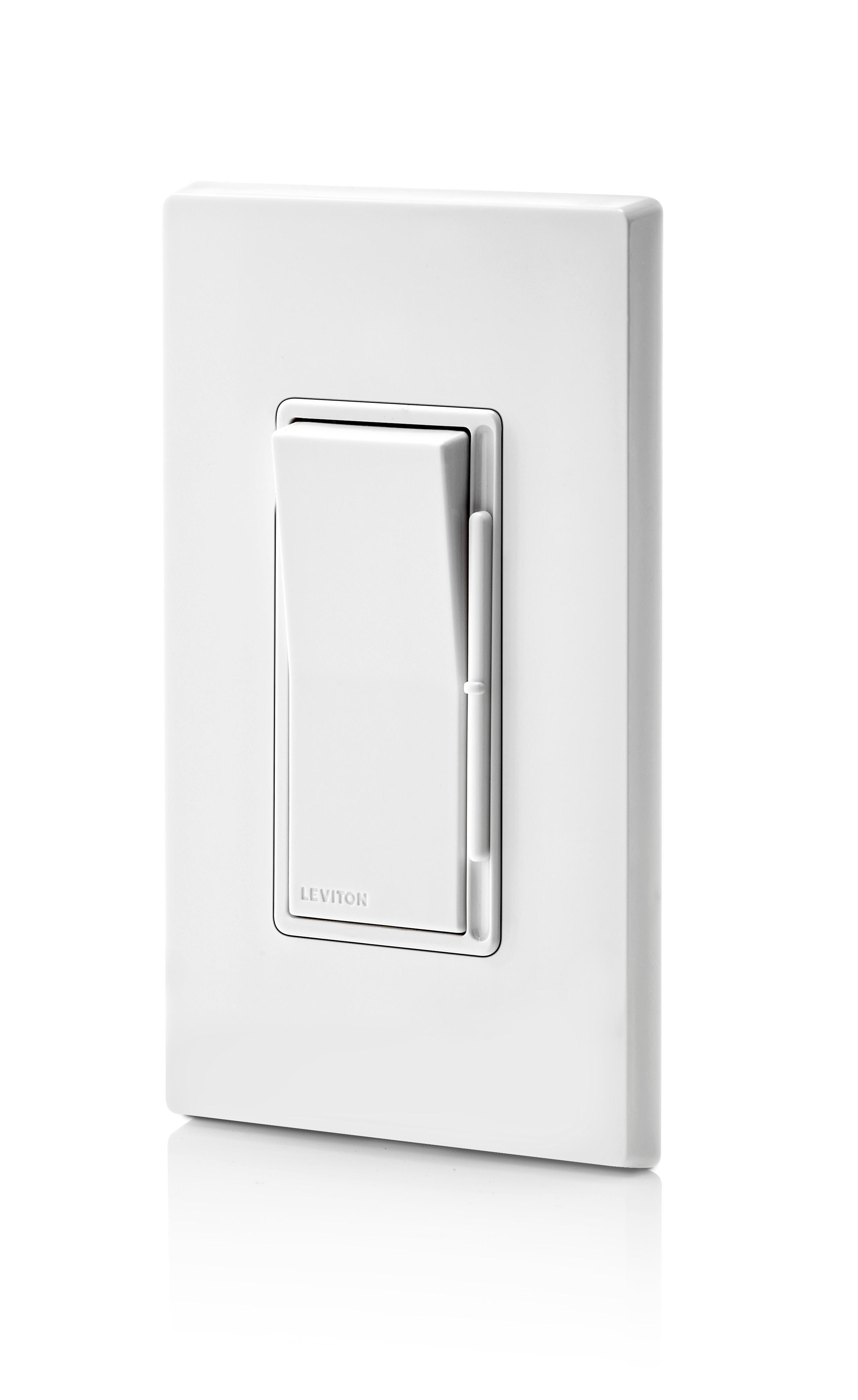 White//Ivory//Light Almond Leviton Direct Leviton DSH06-70Z Decora Rocker Slide Dimmer for Hi-lume or Eco-10 Ballasts