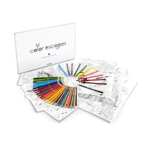 Amazon.com: Crayola Color Escapes Coloring Pages & Pencil Kit ...