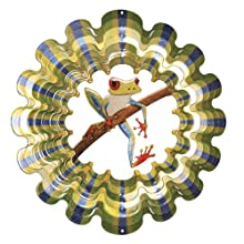 Iron Stop Frog Wind Spinner
