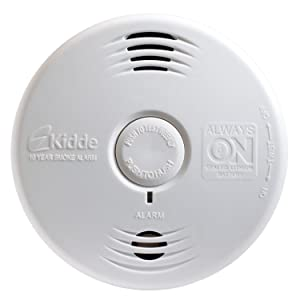 kidde p3010h worry free hallway photoelectric smoke alarm with safety light a. Black Bedroom Furniture Sets. Home Design Ideas