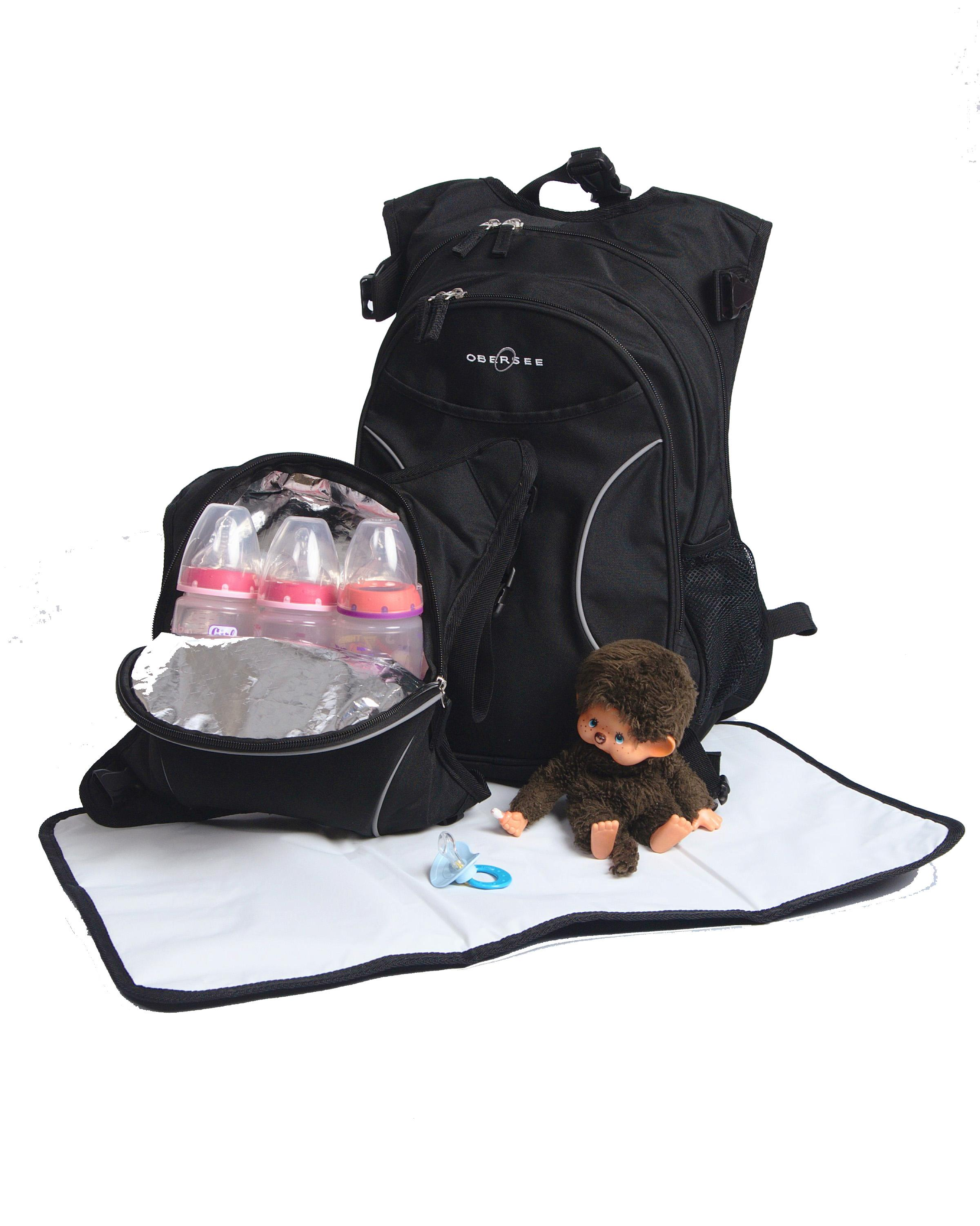 Amazon.com : Obersee Innsbruck Diaper Bag Backpack with Detachable ...