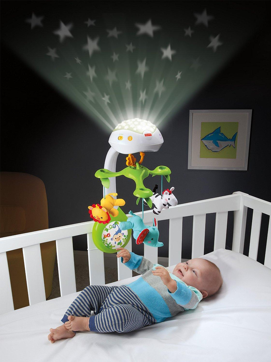 fisher price deluxe projection mobile rainforest friends 3 in 1 baby. Black Bedroom Furniture Sets. Home Design Ideas