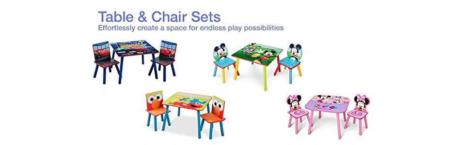 Amazon.com: Delta Children Table & Chair Set, Disney Mickey Mouse ...