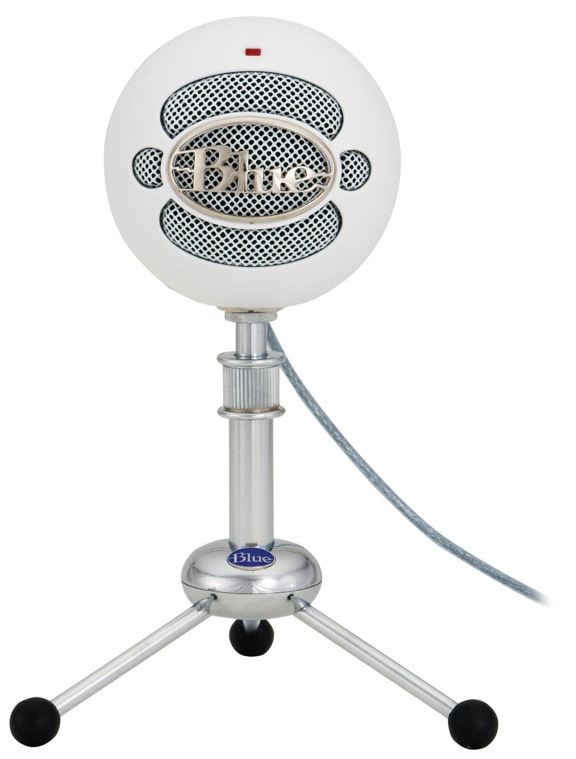 Amazon.com: Blue Snowball USB Microphone (Textured White ...