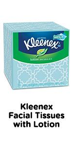 Kleenex lotion facial tissues