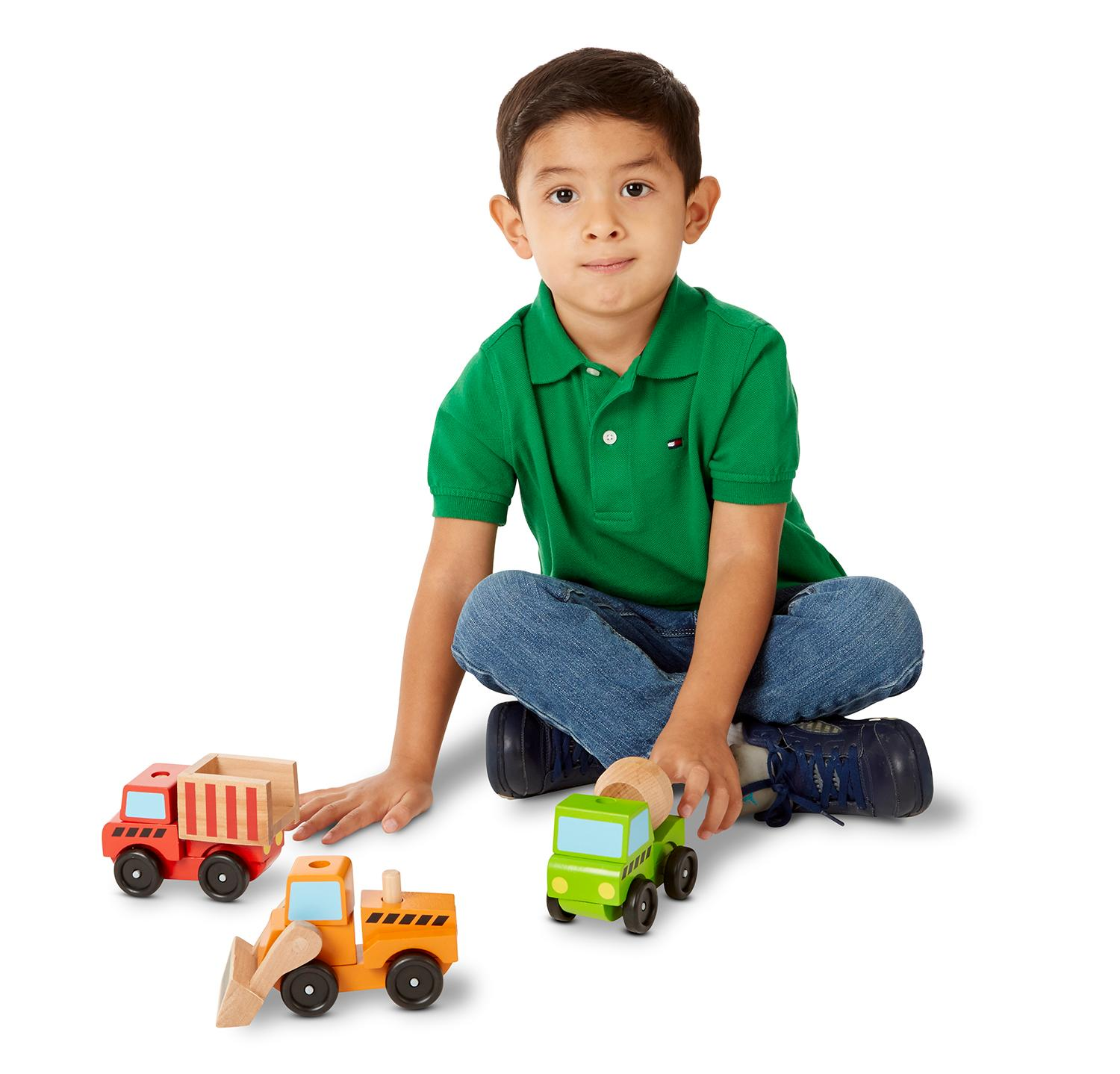 Construction Toys For Boys : Amazon melissa doug stacking construction vehicles