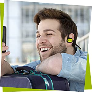 your ear, interchangeable earbud to fit different ear sizes, stay put and don't come loose
