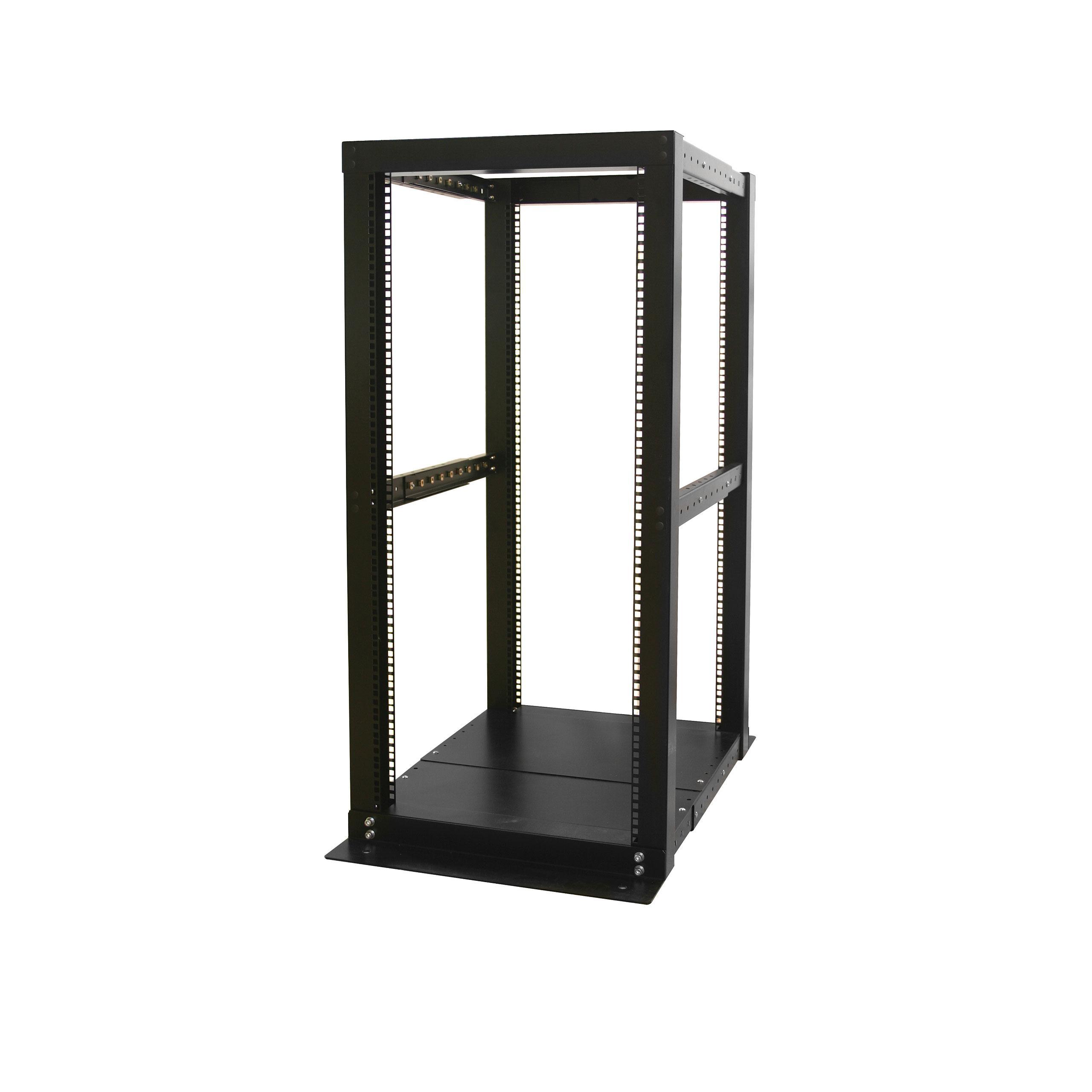 Amazon.com: StarTech 4POSTRACK25 25U 4 Post Server Open Frame Rack ...