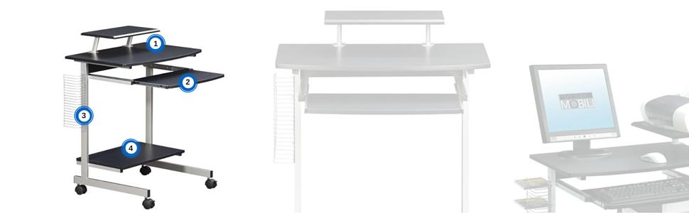Amazon.com: Mobile & Compact Complete Computer Workstation
