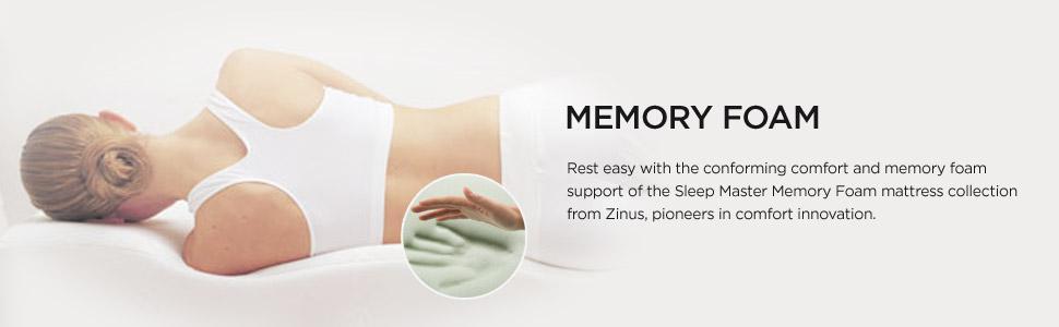 Zinus Sleep Master Ultima Comfort Memory Foam 6 Inch Mattress, Twin