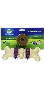 bone interactive dog toy teeth cleaning dog