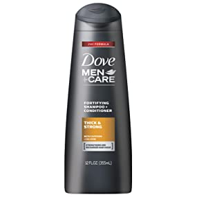 Dove Men+Care Thick & Strong 2 in 1 Shampoo + Conditioner hair, caffeine, thinning, thicker