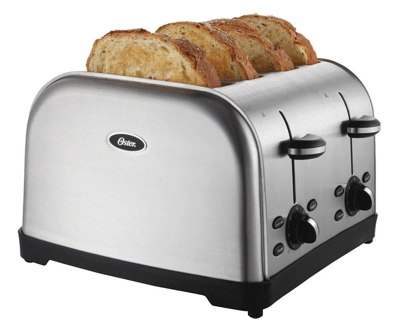 Amazon.com: Oster TSSTTRWF4S 4-Slice Toaster: Kitchen & Dining