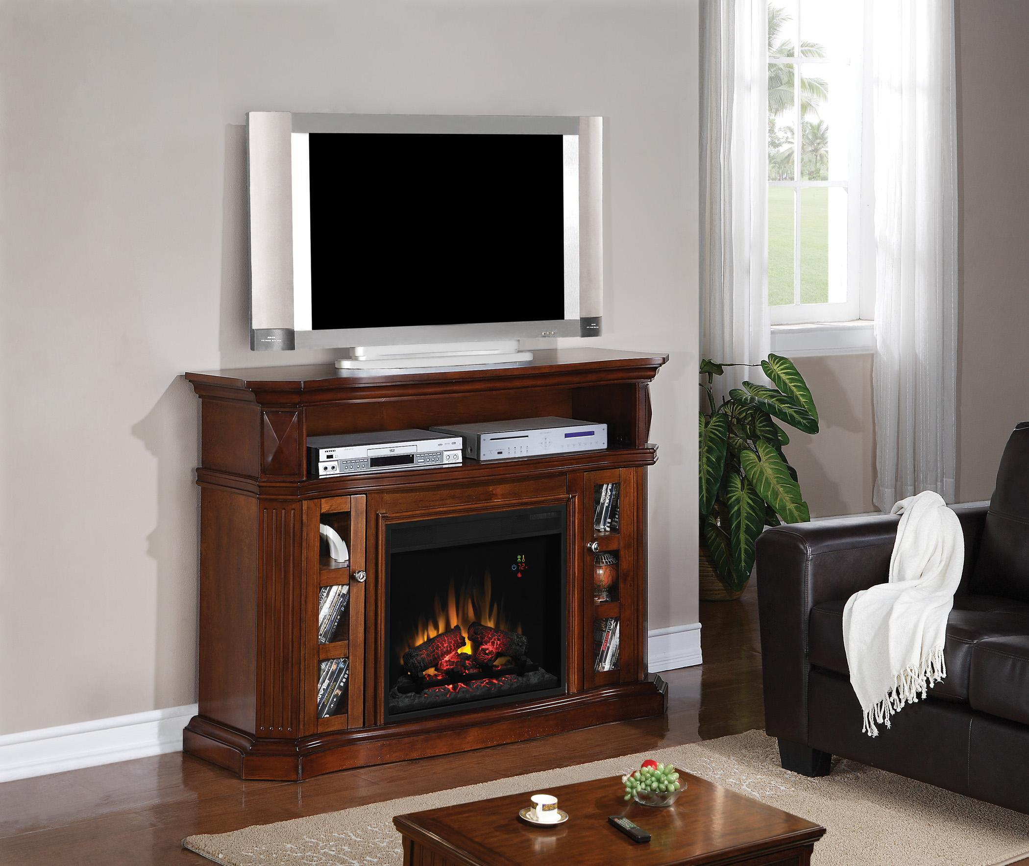Amazon.com: ClassicFlame 23MM774-W502 Bellemeade TV Stand for TVs ...