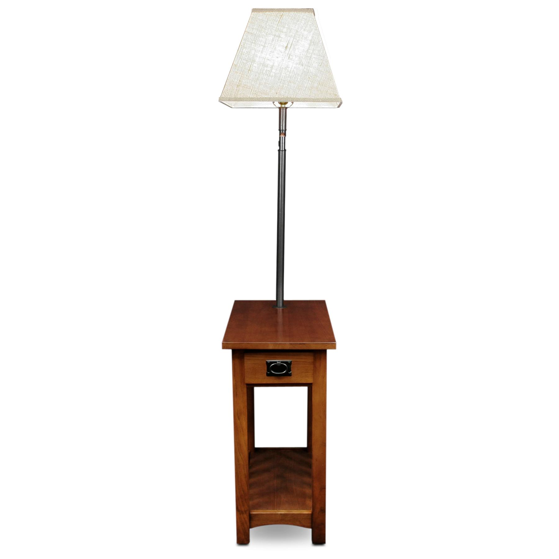 leick mission chairside swing arm lamp table On end table lamps
