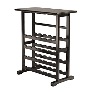 Amazon.com: Winsome Vinny Wine Rack, 24 Bottle with Glass