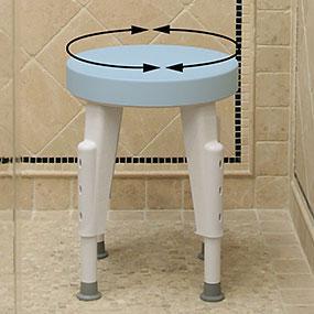 Amazon Com Maddak Rotating Shower Stool Adjustable Legs