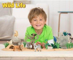 wild life; wild life toy; toys; animal toy; figurine; giraffe; lion