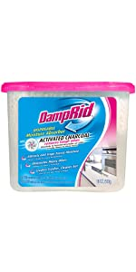 DampRid FG118 Disposable Moisture Absorber with Activated Charcoal