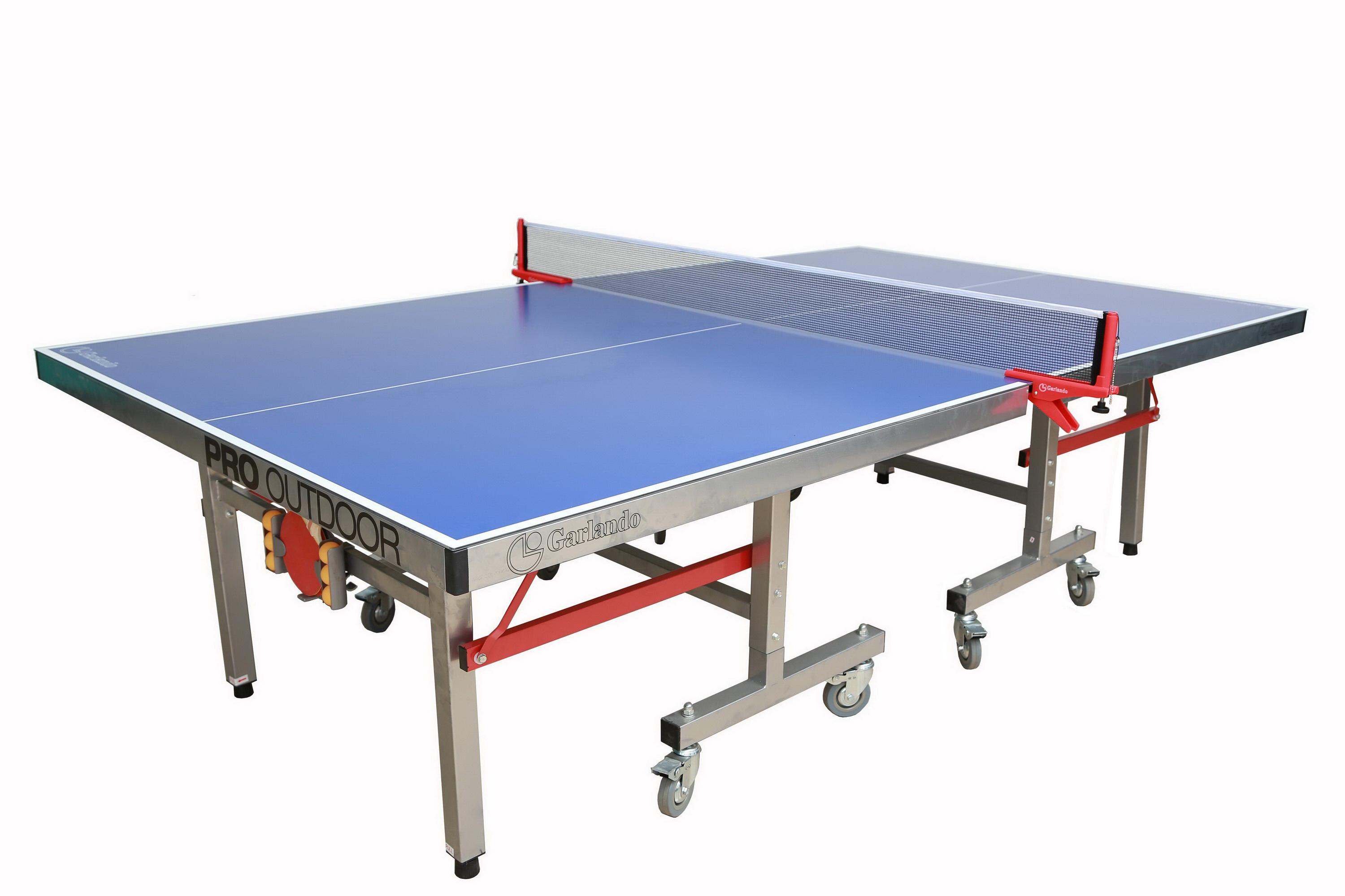 garlando pro indoor outdoor table tennis table blue top sports outdoors. Black Bedroom Furniture Sets. Home Design Ideas