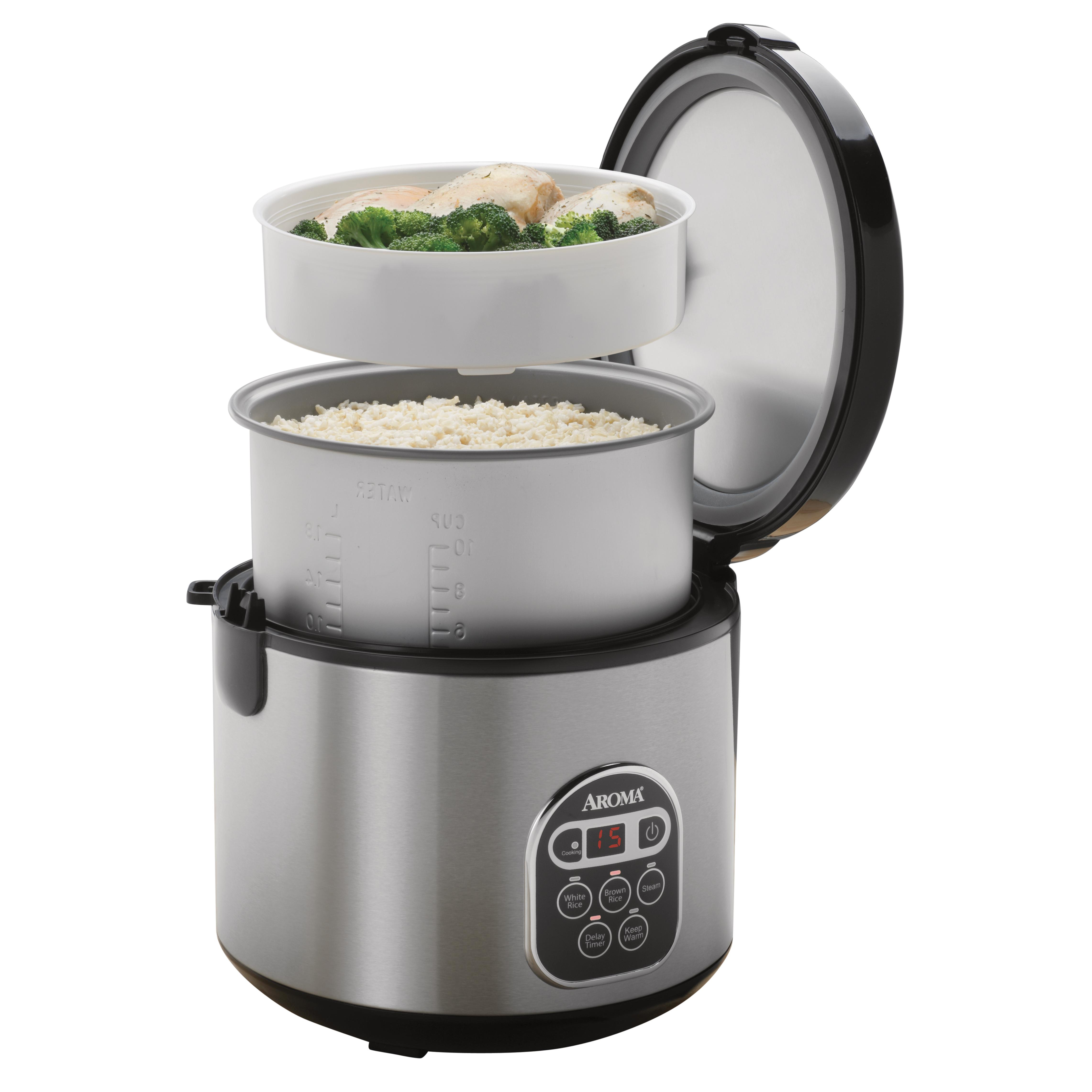 aroma housewares 20 cup cooked 10 cup uncooked digital rice cooker slow cooker. Black Bedroom Furniture Sets. Home Design Ideas