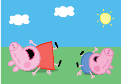 Amazon.com: PEPPA PIG - Peppa and George Giggle n' Wiggle Plush: Toys