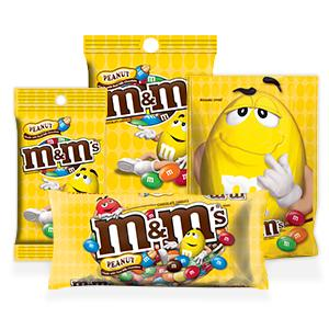 M&M'S Peanut Candy is packaged for parties big or small.