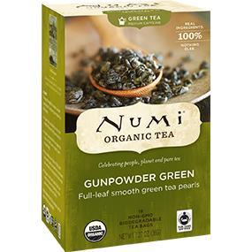 numi, numi tea, tea, organic tea, gunpowder tea, gunpowder green, gunpowder green tea, green tea