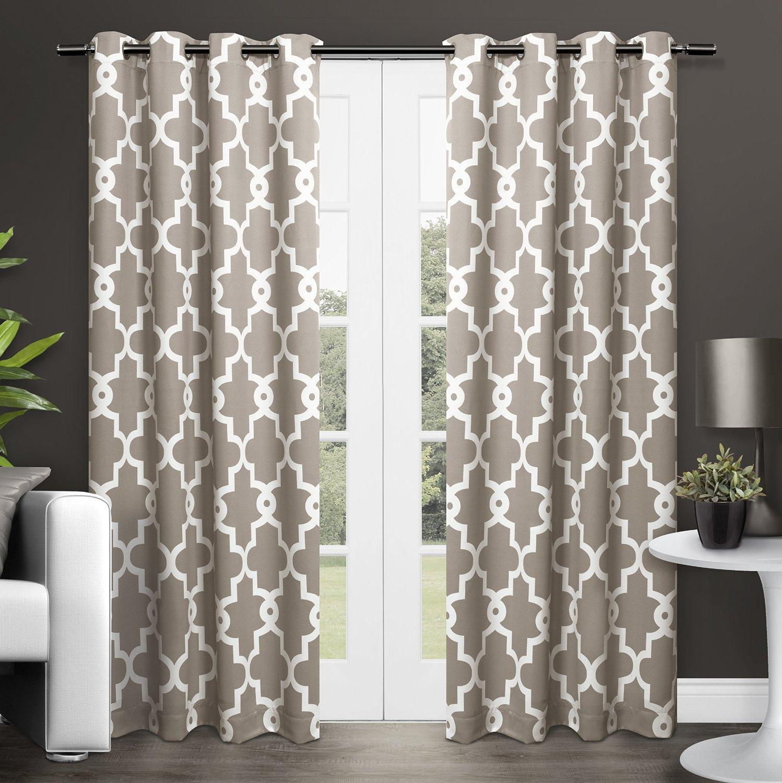 Amazon com exclusive home ironwork room darkening thermal grommet top