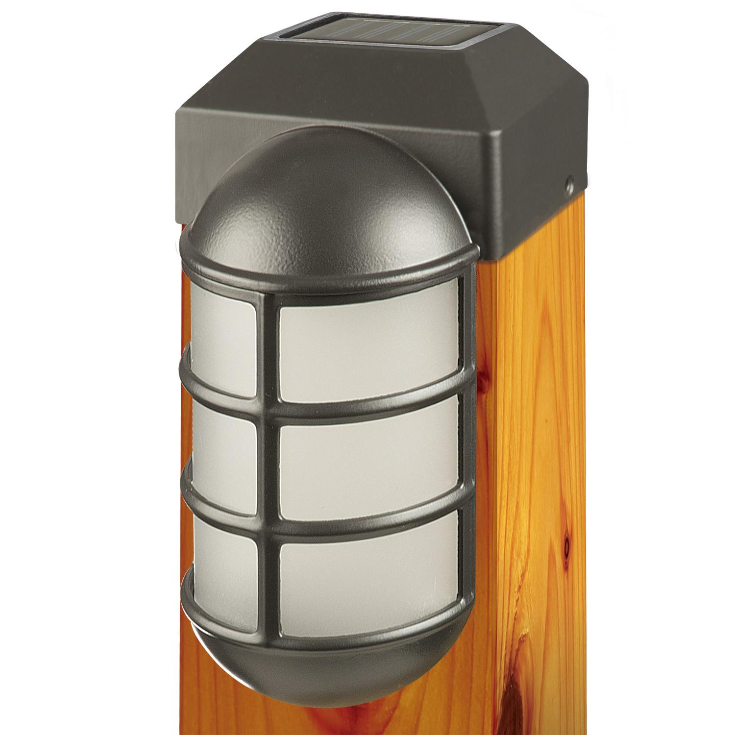 Amazon paradise gl23877bk solar cast led post cap light with view larger baanklon Choice Image