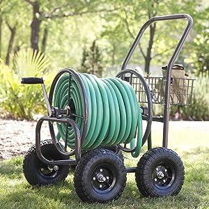 Liberty Garden Products 871 1 4 Wheel Garden Hose Reel Cart