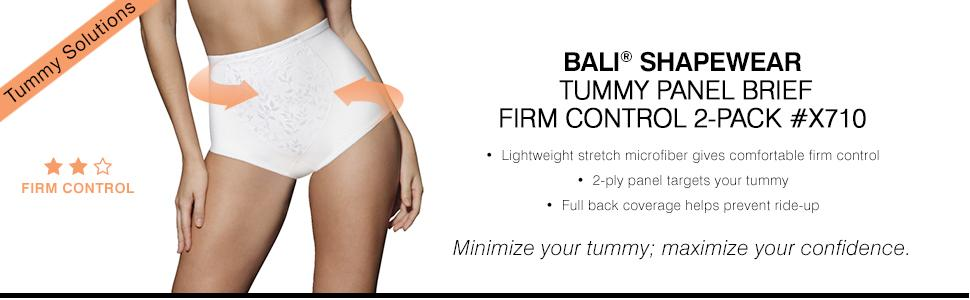 150e1366a88 Bali Women s Shapewear Tummy Panel Brief Firm Control 2-Pack at ...