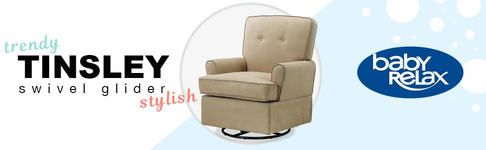 Baby Relax Tinsley Swivel Glider Nursery Room