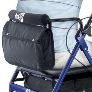 Hugo Elite Rollator Walker backrest with padded seat and hidden storage