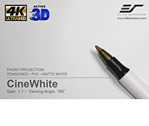 cinewhite, projection screen, cinewhite screen, White projection screen